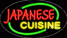 """NEW """"JAPANESE CUISINE"""" 30x17 OVAL SOLID/FLASH NEON SIGN w/CUSTOM OPTIONS 14455"""