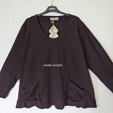 KEKOO  %% kastiges leichtes Fleece Shirt Tunika Überwurf schwarz Gr. 48-50 (2)