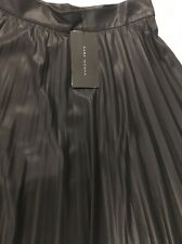 Pleated Leather Effect Skirt BNWT Zara Skirt Size M