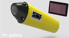 HMF Can Am BRP Spyder RS 2008 2009 2010 2011 12 Yellow Black Slip On Exhaust K&N