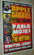 APPLE GABRIEL - PABLO MOSES - THE  HEPTONES / Original Tour Poster /  72 x 102