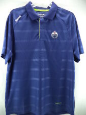Edmonton Oilers Reebok NHL Blue PlayDry Center Ice Team Polo Shirt XL