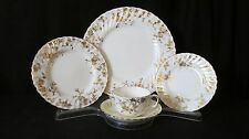 Minton ANCESTRAL GOLD Bone China Two 5 Piece Place Settings, Gold, White