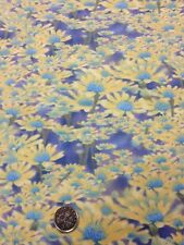 100% Cotton Fabric By Half Metre Fresh As A Daisy Yellow Purple Henry Glass