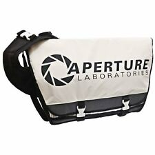 PORTAL 2 1980'S LOGO APERTURE LAB MESSENGER BAG