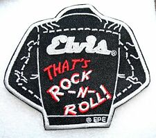 Elvis Presley Rock N Roll Jacket Iron On Patch NEW