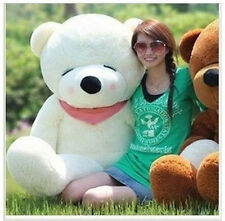 Giant 63'' Big Plush Sleepy Teddy Bear Huge Soft Toy  White 160CM
