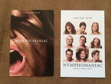 NYMPHOMANIAC- Set of 2 Movie Poster 4x6 POSTCARDS Original Promo Item MINT 2013