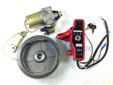 GX160 GX200 ELECTRIC START KIT STARTER MOTOR FLYWHEEL SWITCH U ST18+