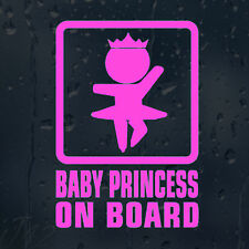 Baby Princess On Board Car Decal Vinyl Sticker