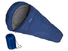 NEW MUMMY SHAPE WARM SINGLE SLEEPING BAG FOR CAMPING CARAVAN AND TRAVEL W BAG