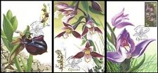 2015 Ukraine 3v STAMPS 3 Maximum card orchids plant flower wild garden flora set