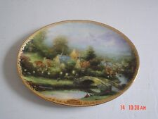 The Bradford Exchange Ltd Edition Oval Collectors Plate LAMPLIGHT COUNTY