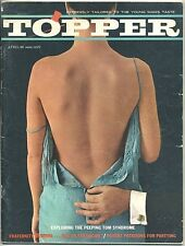 April 1961 Mens Magazine TOPPER Theodore Pratt NUDE MODELS Booze PIN-UPS Humor