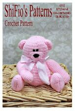 CROCHET PATTERN for TEDDY BEAR TOY  #132 by ShiFio's Patterns