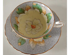 Fancy Tuscan Big Hand Painted Flower Cup and Saucer