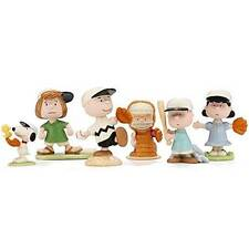 Lenox Baseball Team Charlie Brown Snoopy 5 Pc Figure Box Sports Game Set 847956