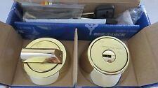 Mul T Lock MT5+ Deadbolt Hercular Single  Thumbturn 3 keys - BRIGHT BRASS