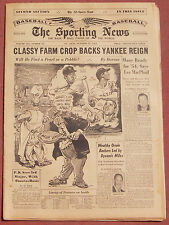 10-21-53 SPORTING NEWS YANKEES MANTLE & BERRA AND RED SOX WILLIAMS ON COVER