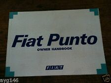 FIAT PUNTO MK1 1994 -1999 GENUINE MANUAL HAND BOOK BOOKLET