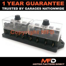 CAR MOTORCYCLE QUAD BIKE FITS 99% CARS 8 WAY UNIVERSAL STANDARD 12V FUSE BOX