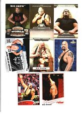 Big Show Wrestling Lot of 8 Different Trading Cards 6 Inserts WWE TNA BS-B1