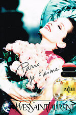 PUBLICITE ADVERTISING 045  1996  YL  parfum YVES SAINT LAURENT femme