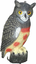 GARDEN PROTECTION PEST REPELLENT BIRD SCARER RESIN DECOY OWL PLASTIC REALISTIC