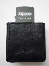Zippo cigarette case cigarrillos Box en cuero negro en caja de regalo