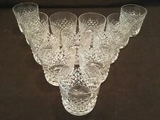 SET OF 12 WATERFORD CRYSTAL OLD FASHIONED TUMBLERS IN THE ALANA PATTERN GLASSES