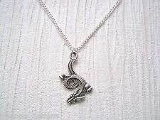 *ORIENTAL CHINESE DRAGON* Detailed SP Necklace & Pendant Gift Bag 18 inch chain