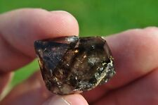 Root beer smoky quartz ENHYDRO quartz crystal from Moroola, Australia