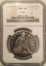 1842 Seated Liberty Dollar NGC Graded Fine 12 Rare!