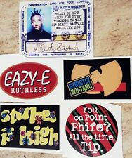 5 VINYL STICKERS EAZY E WU TRIBE CALLED QUEST DE LA SOUL DECAL OL DIRTY BASTARD