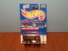 Hot Wheels Ford Stake Bed Truck #191 2000 Dark Red w/ Dumping Bed