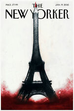 "The New Yorker Cover Paris Jan 2015 Art Print Poster 16"" x 24"""
