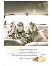 PUBLICITE  1996   PHILIPPE PATEK  montre collection ELLIPSE D'OR