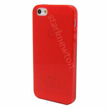 RED FROST CLEAR Thin TPU GEL Case Cover For Apple iPhone 5 5G 5th SE 5S
