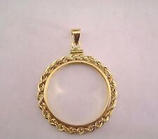 Coin Bezel Susan B. Anthony Dollar 14K Gold Filled Rope Mount Soldered Bail New