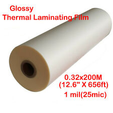 "1 Roll 12.6""X656'(0.32x200M) Bopp Glossy UV Luster Hot Thermal Laminating Film"