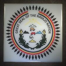 Great Seal Of The Navajo Nation Ceramic Tile Coaster Art