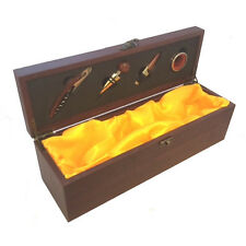 Personalised Engraved Wood Wine Presentation Box with Tools(GS005)