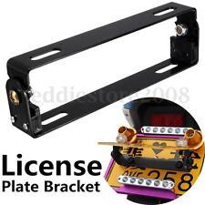 Univeral Black Motorcycle Adjustable Angle Metal License Plate Holder Bracket