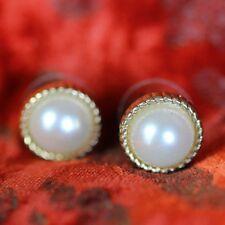 Boucles d`Oreilles Demi Perle Blanche Classique Elegante Soirée Mariage NN 3