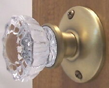 Fluted Crystal Glass Passage Door Knob Set for Any Door - Rousso's Reproductions