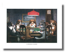 Dogs Play Poker #1 A Friend In Need 8x10 Coolidge Wall Art Print Picture