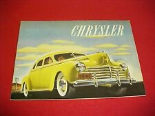 1941 ORIGINAL CHRYSLER LARGE PRESTIGE BROCHURE 36 PAGES PROSPEKT OPTIONS 41 OEM