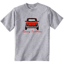 POLISH MALUCH RED FIAT 126P RACING - NEW COTTON GREY TSHIRT - ALL SIZES IN STOCK