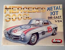 Vintage Mercedes 300 SL  Cb Car Kit Metal Die Cast W/Plastic Parts 1/24