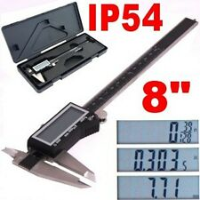 "8"" DIGITAL ELECTRONIC CALIPER LARGE LCD X-PRECISION INCH METRIC FRACTION 1/128"